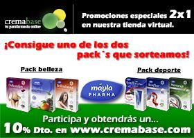 Cremabase.com sortea 2 Packs Máyla Pharma