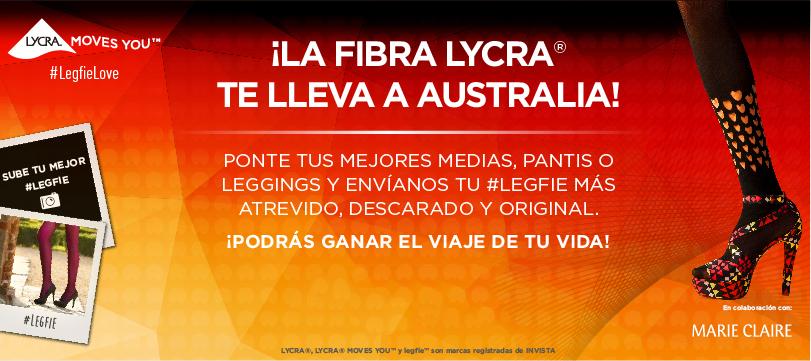¡LA FIBRA LYCRA® TE LLEVA A AUSTRALIA!