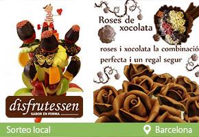 RAMO DE FRUTA LLEIDA-RAMO DE ROSAS DE CHOCOLATE