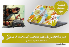 GANA 2 VINILOS PARA PORTATIL Y PS4