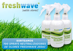 100 SPRAYS NEUTRALIZADORES DE OLORES FRESHWAVE 250ml