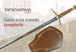 ESPADA TEMPLARIA DE ESPADASYMÁS