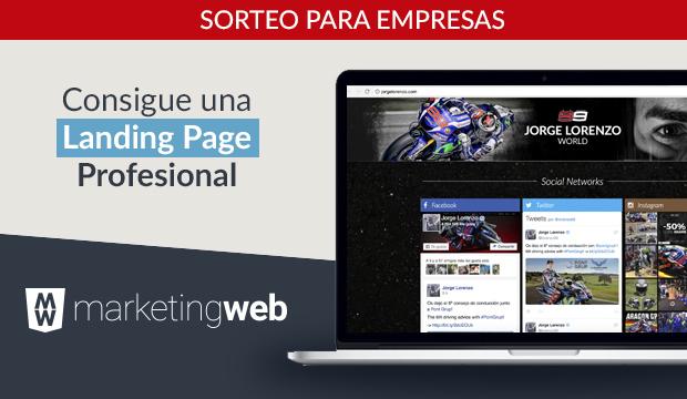 CREACIÓN LANDING PAGE CON MARKETING WEB
