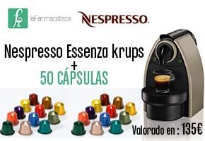 CAFETERA NESPRESSO Y 50 CÁPSULAS GRACIAS A LA FARMACOTECA